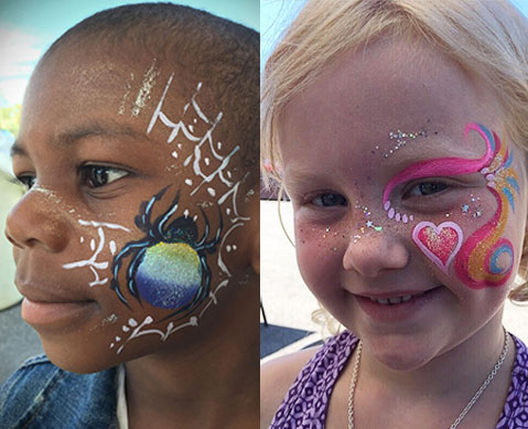 Fantasy Face Painting in Ottawa - example of children's face painting
